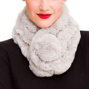 Fur Collar Scarf for Women Faux Fur Scarf
